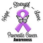 Pancreatic Cancer Hope Love Strength Shirts