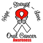 Oral Cancer Hope Love Strength Shirts