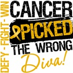 Appendix Cancer Picked The Wrong Diva Shirts