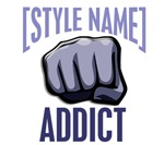 [Style Name] ADDICT Karate T-Shirts & Merchandise