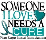 Needs A Cure Cervical Cancer T-Shirts & Apparel