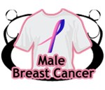 Male Breast Cancer Shirts and Gifts