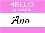 Hello My Name Is Ann