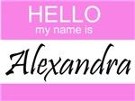 Hello My Name Is Alexandra