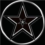 Black & Silver Pentacle with Inverted pentagram