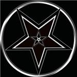 Inverted Pentacle with upright Pentagram