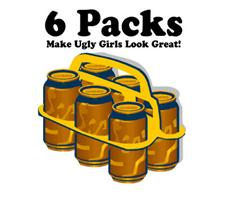 6 Packs Make Ugly Girls Look Great!