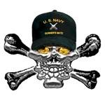 USN Gunners Mate Skull