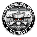 USN Aviation Structural Mechanic Skull