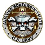 USN Aviation Boatswains Mate Skull AB