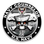 USN Navy Counselor Skull NC