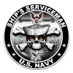 USN Ships Serviceman Skull SH