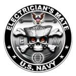 USN Electricians Mate Skull EM