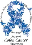 Colon Cancer Butterfly Ribbon