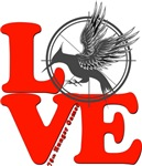 L.O.V.E. Mockingjay Red