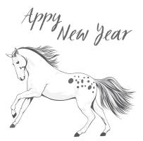 Appy New Year Appaloosa Horse