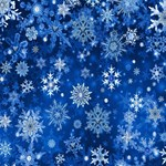 Christmas Snowflakes on Blue
