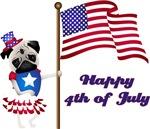 Happy 4th of July Pug
