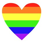 Rainbow Flag Heart T-Shirts & Gifts