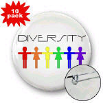 Gay Pride Button Badges - Packs of 10