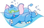 Lil Blue Elephant Swimmer