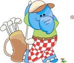 Lil Blue Elephant Golfing