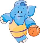 Lil Blue Elephant Basketball