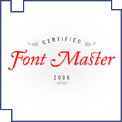 Certified Font Master