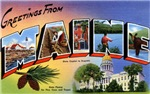 Greetings from Maine T-shirt Tshirts & Gifts