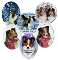 Sheltie Christmas Ornaments