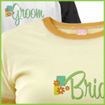 Retro Bride and Groom T-Shirts