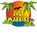 Tropical Just Married T-Shirts
