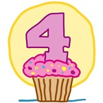 4th Birthday Cupcake T-Shirts
