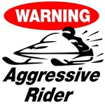 Warning Aggressive Rider