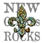 New Orleans Rocks, fleur & text