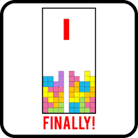 A t-shirt for the tetris retro gamer geek.  Show everyone your tetris love with this great Finally Tetris t-shirt.