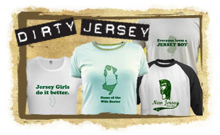DIRTY new jersey & New Jersey Shore tees