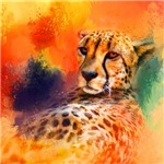 Colorful Expressions Cheetah