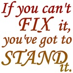 If you can't fix it...