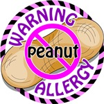 Warning Peanut (pink)