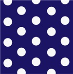 Navy and White Polka Dots