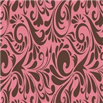 Pink and Brown Tribal Swirl