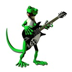 Electric Guitar Gecko