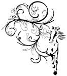 Horse Flourish