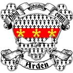 Arden Family Crest Skull