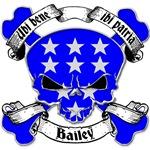 Bailey Family Crest Skull