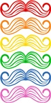 Rainbow Moustaches
