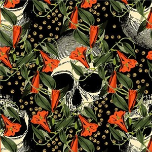 Skulls In The Garden Pattern