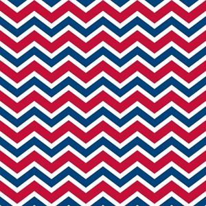 Red Blue Chevron Stripe