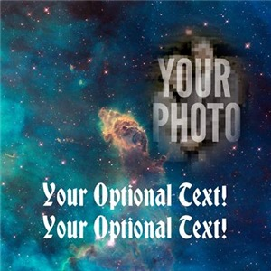 Your Face In Space CUSTOM PHOTO Nebula
